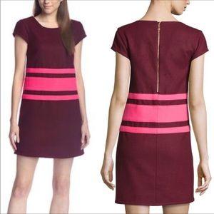 Julie Brown NYC Allora mini burgundy dress striped